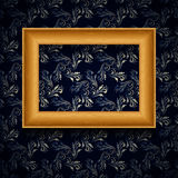 Vector picture frame on wall. Stock Photo
