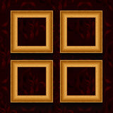 Vector picture frames on wall. Royalty Free Stock Images
