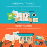 Vector picture of group training and working in a Stock Images