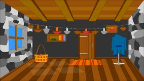 The background for the animation, hedgehog house stock illustration