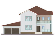 Vector picture of two floor house Royalty Free Stock Photo