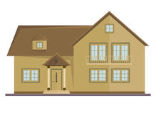Vector picture of two floor house Royalty Free Stock Photography