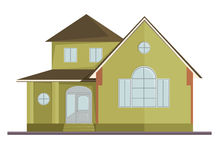 Vector picture of two floor house. Eps 10 Stock Image