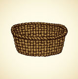 Vector picture of wickerwork basket Royalty Free Stock Photography