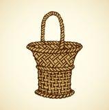 Vector picture of wickerwork basket Stock Photos