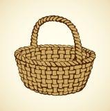Vector picture of wickerwork basket Stock Photography