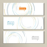 Vector pictures with circles of different colors Royalty Free Stock Images
