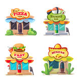 Vector pictures of food markets Royalty Free Stock Photos