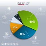 Vector pie chart - business statistics. Royalty Free Stock Image