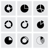 Vector pie chart icon set Royalty Free Stock Image