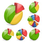 Vector pie charts Stock Photography