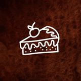 Vector piece of  cake with fresh berry on Royalty Free Stock Image
