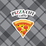 Vector piece of pizza realistic icon Royalty Free Stock Photo
