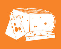 Vector pieces of cheese Stock Photos