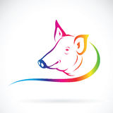 Vector of a pig logo. Royalty Free Stock Photography