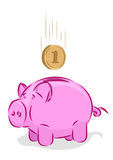 Vector piggy bank Royalty Free Stock Image