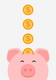 Vector piggy bank Royalty Free Stock Photography