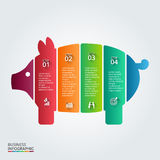 Vector piggy bank element for infographic. Royalty Free Stock Images