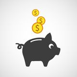 Vector piggy bank icon Royalty Free Stock Photography