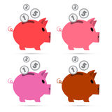 Vector Piggy Bank Set Stock Photo