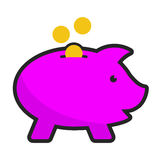 Vector piggy moneybox Royalty Free Stock Images