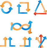 Vector pijlen Royalty-vrije Stock Afbeeldingen