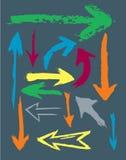 Vector Pijlen Grunge Royalty-vrije Stock Fotografie
