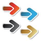 Vector pijlstickers Royalty-vrije Stock Fotografie