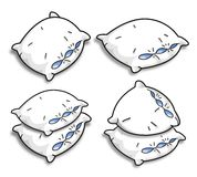 Vector pillows Stock Images