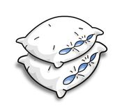 Vector pillows. Two white vector pillow on the white background Royalty Free Stock Photography