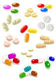 Vector pills Royalty Free Stock Photo