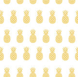 Vector pineapple background Royalty Free Stock Photo