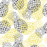 Vector pineapple background Royalty Free Stock Photography