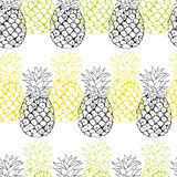 Vector pineapple background Stock Photography