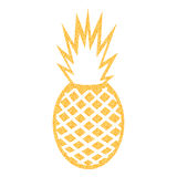 Vector pineapple with glitter outline Royalty Free Stock Photography