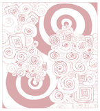 Vector pink abstract swirls Stock Images