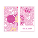 Vector pink abstract triangles vertical round Stock Photo