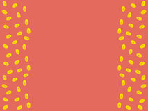 Vector pink background with golden coins and space for text Stock Images