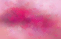 Vector  pink background with hearts. Royalty Free Stock Photos