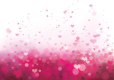 Vector pink background with hearts. Stock Photo