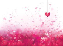 Vector pink background with hearts. Background is my creative handdrawing and you can use it for Valentines day, Christmas, holiday design and etc, made in Royalty Free Stock Photography