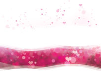 Vector pink background with hearts for Valentines. Background is my creative handdrawing and you can use it for Valentines day design and etc, made in vector Royalty Free Stock Photos