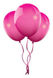Vector pink balloons Royalty Free Stock Image