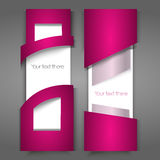 Vector pink banners Stock Images