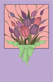 Vector pink bouquet of flowers  Stock Photo
