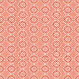 Vector pink and cream star circles geometric seamless repeat pattern vector background. royalty free illustration