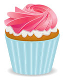 vector pink cupcake Stock Photography