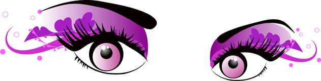 Vector pink eyes. For make up, cosmetics, decorations and others stock illustration