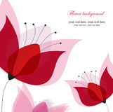 Vector pink floral card Royalty Free Stock Photos