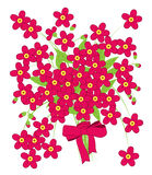 Vector of Pink Flower with Bow. On white background Stock Photos